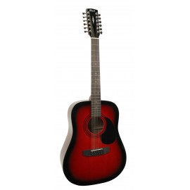 GUITARE CORT AD810-12 ROUGE DEGRADE