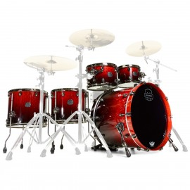 MAPEX SATURN V 5 FUTS CHERRY MIST MAPLE BURL
