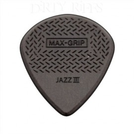 DUNLOP SACHET 24 MEDIATORS JAZZ III MAX GRIP GRIS