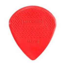 DUNLOP SACHET 24 MEDIATORS JAZZ III MAX GRIP ROUGE