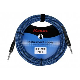 KIRLIN CABLE GUITARE 3 M BLEU ENTRY PLUS