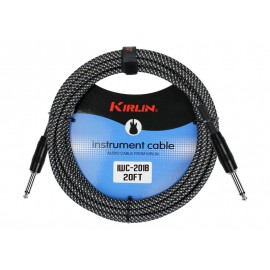 KIRLIN CABLE GUITARE 10 M NOIR ENTRY PLUS