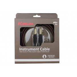 KIRLIN CABLE GUITARE 6 M NOIR ROUGE PREMIER PLUS