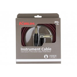 KIRLIN CABLE GUITARE 6 M NOIR ROUGE COUDE PREMIER PLUS