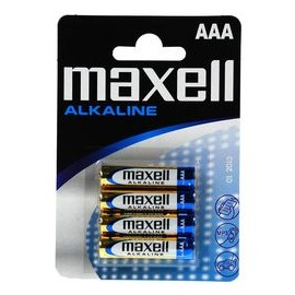 MAXELL PILE ALKALINE PACK 4 PILES AAA 1,5 V
