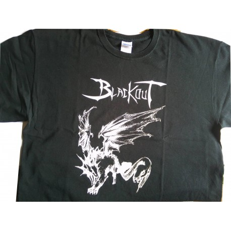 T-SHIRT BLACKOUT GIRL TAILLE S